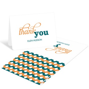 Sweetly Strung Scallops -- Baby Shower Thank You Cards