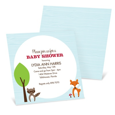 Nesting Outdoors -- Woodland Baby Shower Invitations