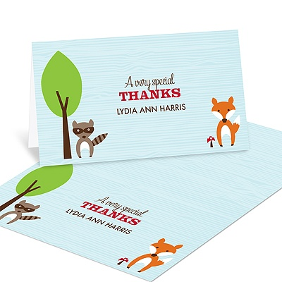 Nesting Outdoors Baby Shower Thank You Cards