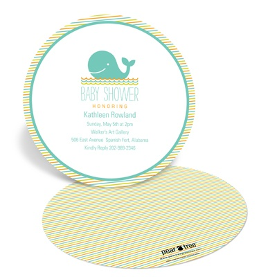 Striped Sea Baby Shower Invitations