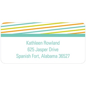Diagonal Border -- Baby Address Labels