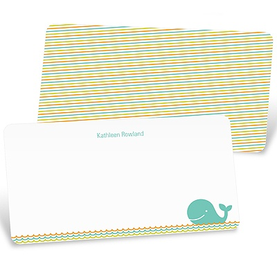 Striped Sea -- Whale Thank You Cards