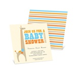 Dotted Shower -- Giraffe Baby Shower Invites