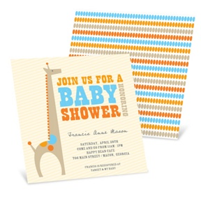 Spotted Giraffe -- -- Baby Shower Invitations
