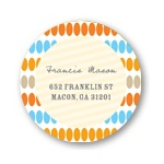 Dotted Shower -- Baby Shower Return Address Labels