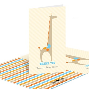 Spotted Giraffe -- Baby Shower Thank You Cards