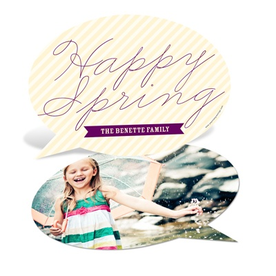 Talking Spring -- Happy Spring Cards