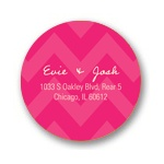 Sweet Chevron Dreams -- Chevron Address Labels