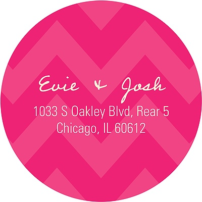 Sweet Chevron Dreams Baby Address Labels