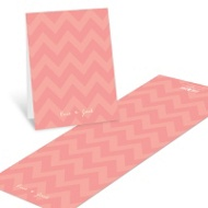 Sweet Chevron Dreams Baby Shower Thank You Cards