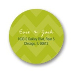Subtle Chevron -- Personalized Round Address Labels