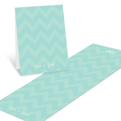 Subtle Chevron Baby Shower Thank You Cards