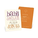Welcoming Color Block -- Whimsical Baby Shower Invitations
