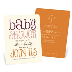 Welcoming Color -- Baby Shower Invitations