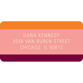 Welcoming Color -- Baby Address Labels