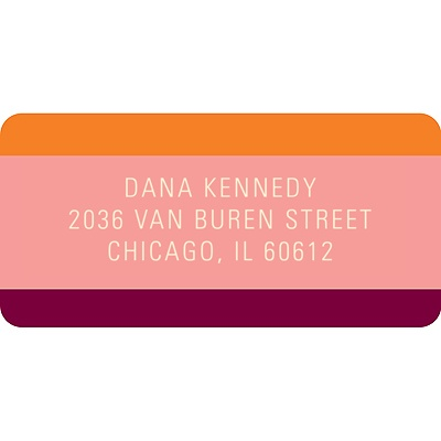 Welcoming Color Baby Address Labels