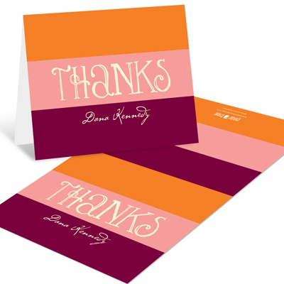 Welcoming Color Block -- Personalized Thank You Cards