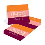 Welcoming Color Block -- Personalized Baby Shower Thank You Cards