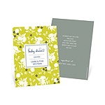 Blooming and Beaming -- Trendy Baby Shower Invitations