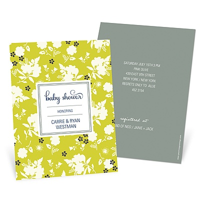 Blooming and Beaming Baby Shower Invitations