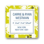 Blooming and Beaming -- Floral Address Labels