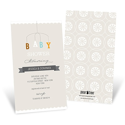 Mobile Memories Baby Shower Invitations