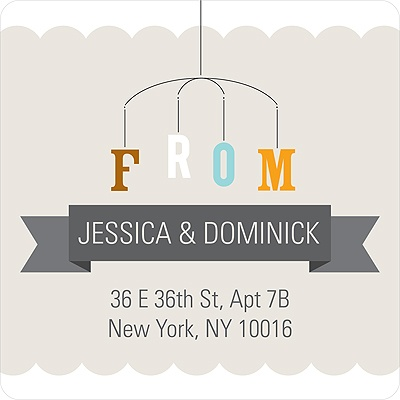 Mobile Memories Baby Address Labels