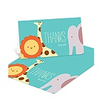 Jungle Jubilee -- Jungle Animal Thank You Cards