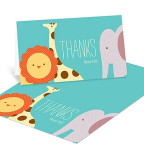 Safari Shower -- Baby Shower Thank You Cards