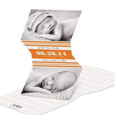 V-Cut Stripes Birth Announcements