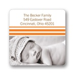 Varying Stripes -- Photo Address Labels