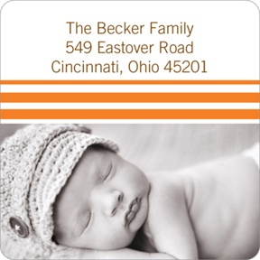 Varying Stripes -- Baby Address Labels