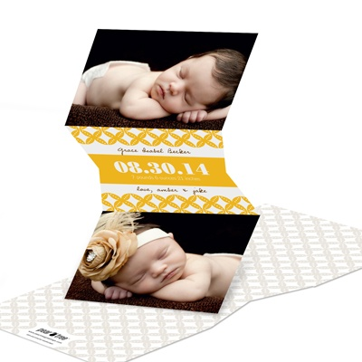 V-Cut Lattice Birth Announcements