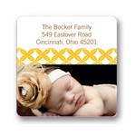 Diamond Border -- Custom Photo Return Address Labels