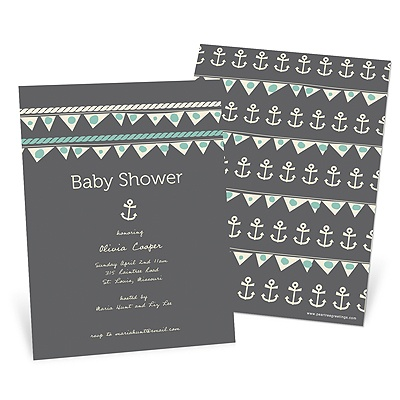 Adorable Anchors Baby Shower Invitations