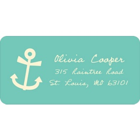 Adorable Anchor -- Baby Address Labels