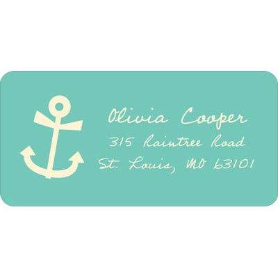 Adorable Anchor Baby Address Labels