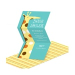 Whimsical Welcome -- Giraffe Baby Shower Invitations