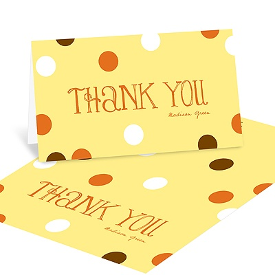 Whimsical Welcome Baby Shower Thank You Cards