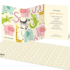 Alphabet Animals -- Baby Shower Invitations