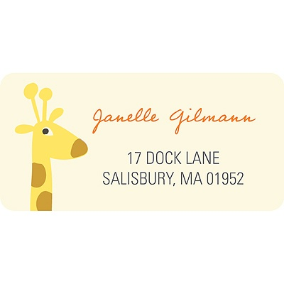 Alphabet Animals Baby Address Labels