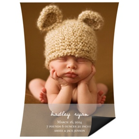 Curve Appeal Boy Magnet -- Birth Announcements