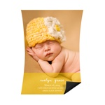 Softly Written -- Magnet Baby Announcements