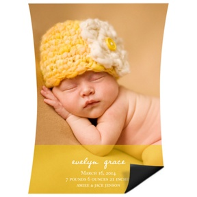 Curve Appeal Girl Magnet -- Birth Announcements