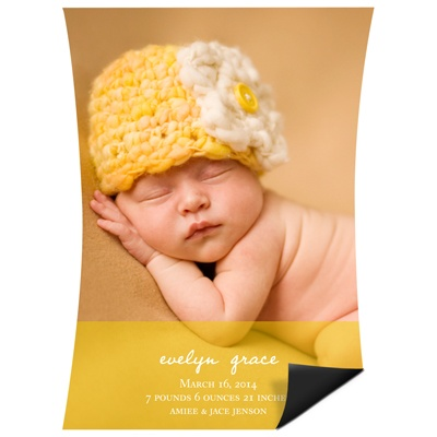 Curve Appeal Girl Magnet Birth Announcements