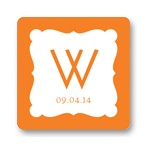 Modern Monogram -- Personalized Wedding Favor Stickers
