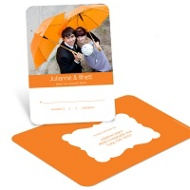 Modern Matrimony Wedding Reply Postcard