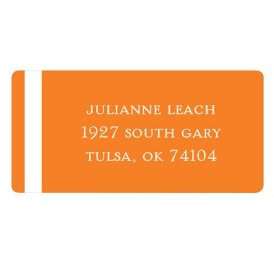Classic Dual Stripes Wedding Address Labels