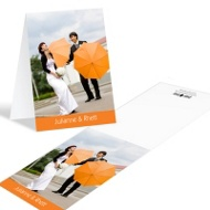 Bright Border Photo Wedding Thank You Notes