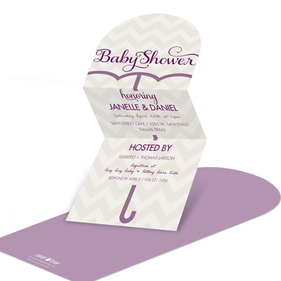 Unique Umbrella -- Chic Baby Shower Invitations